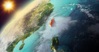 Taiwan viewed from space