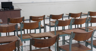 An empty classroom in Asia